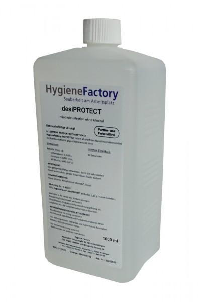 desiPROTECT Händedesinfektion alkoholfrei, 1000 ml Euroflasche