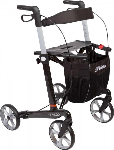 Leichtgewichtrollator Mobilex Gepard mit Schleifbremsen, Carbon