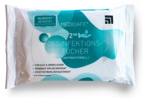 Careline Medisafe Desinfektionstücher 2in1
