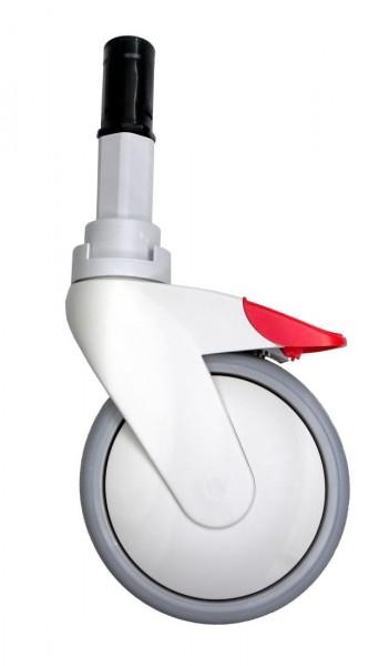 Ersatzrolle 5 Zoll für Dusch-Toilettenrollstuhl Rebotec